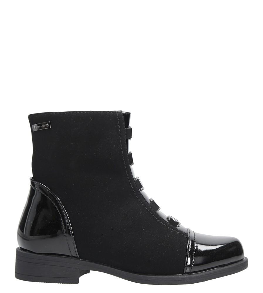 Czarne botki z metalową ozdobą Sergio Leone DZ011