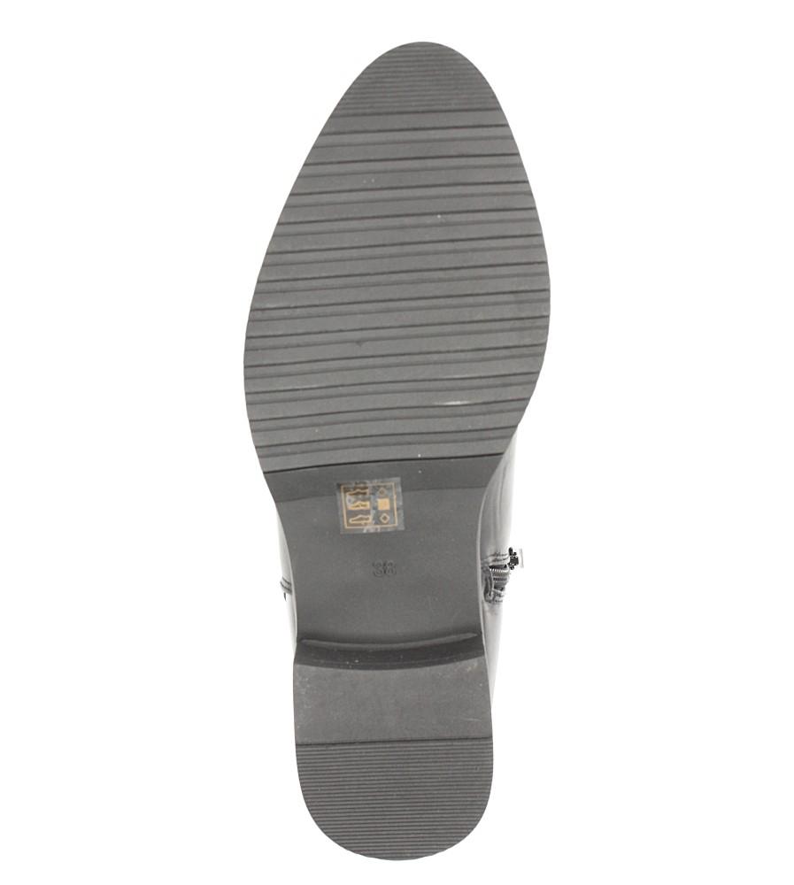 Czarne botki z ozdobną klamrą Jezzi RMR1811-4 wnetrze futerko