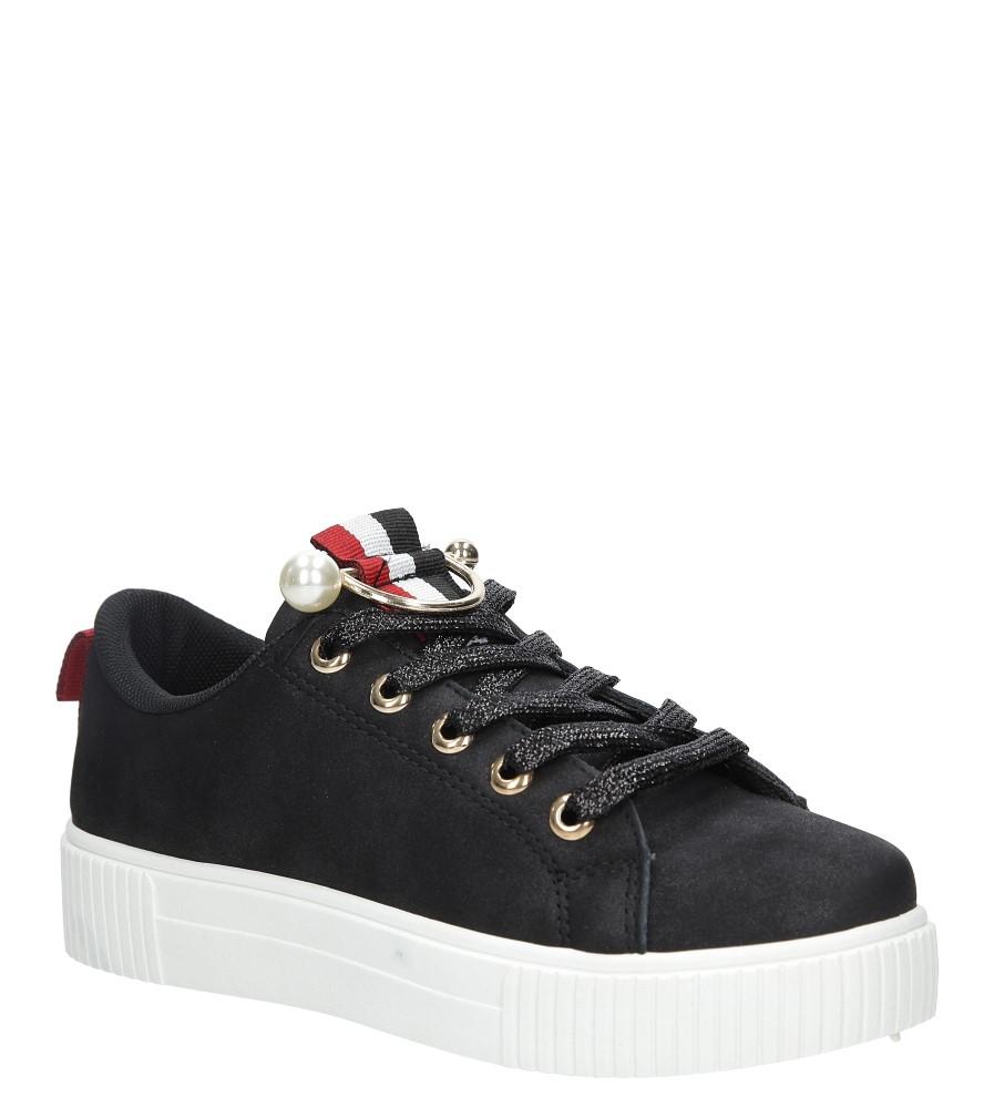 Czarne buty sportowe creepersy Casu 123-1 czarny