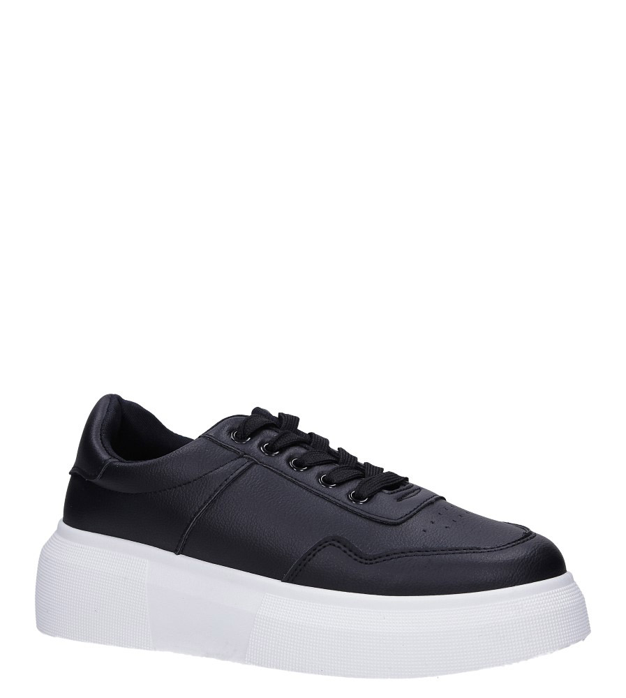 Czarne buty sportowe creepersy sznurowane Casu 02001(D0619)