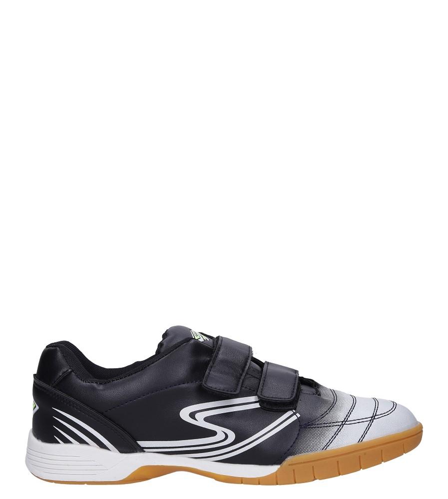 Czarne buty sportowe halówki na rzepy Casu A1712-1