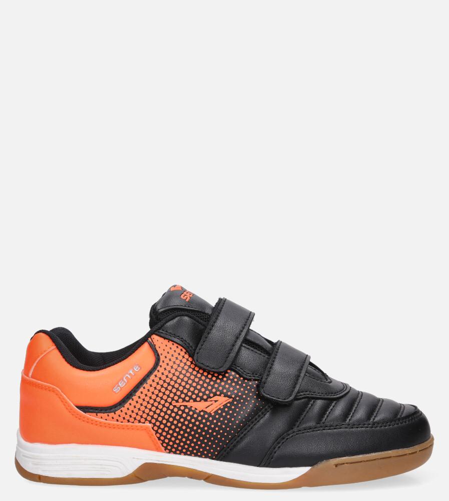Czarne buty sportowe halówki na rzepy Casu B1601B-1 czarny