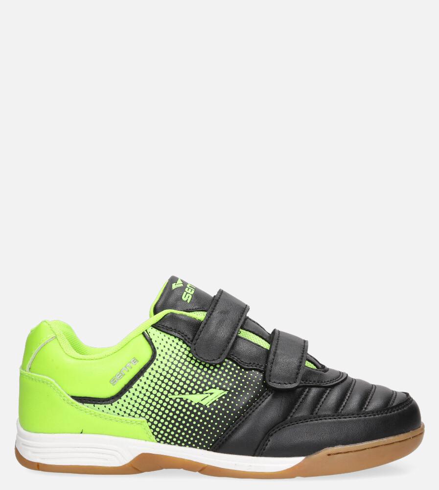 Czarne buty sportowe halówki na rzepy Casu B1601B-2 czarny