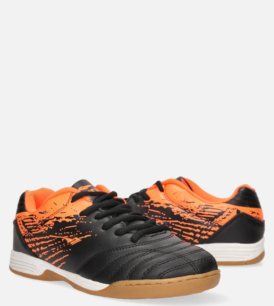 Czarne buty sportowe halówki sznurowane Casu A1901-1 czarny
