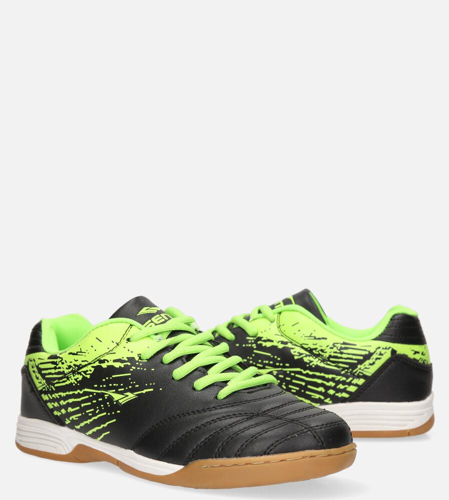 Czarne buty sportowe halówki sznurowane Casu A1901-2 czarny