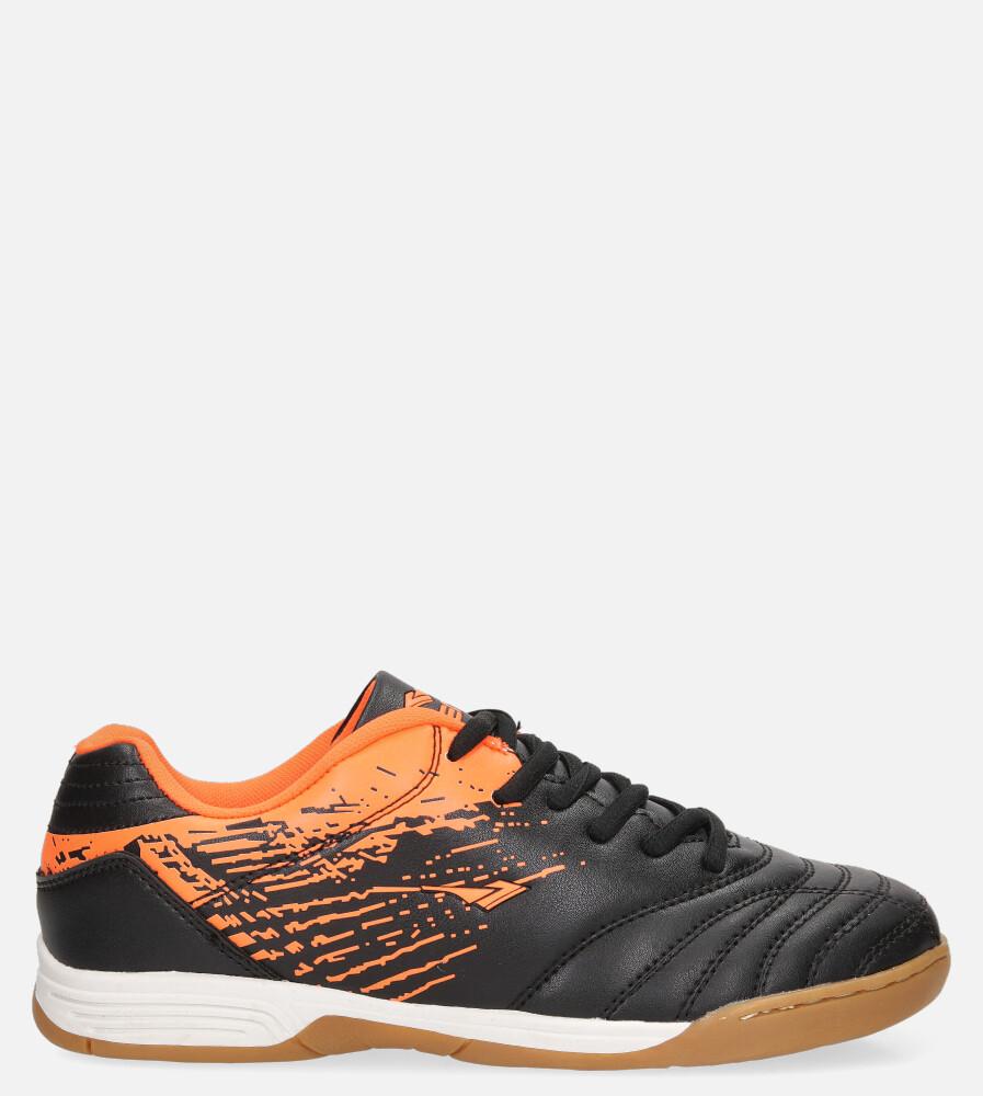 Czarne buty sportowe halówki sznurowane Casu B1901B-1 czarny