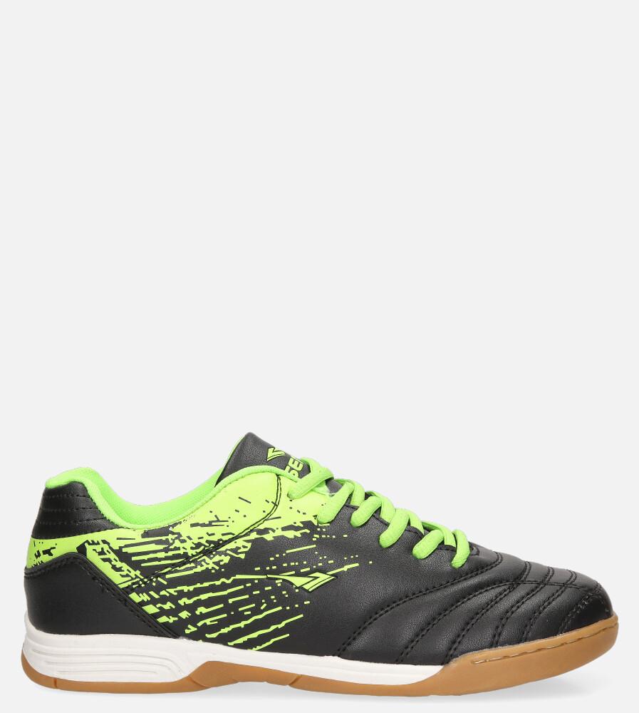 Czarne buty sportowe halówki sznurowane Casu B1901B-2 czarny