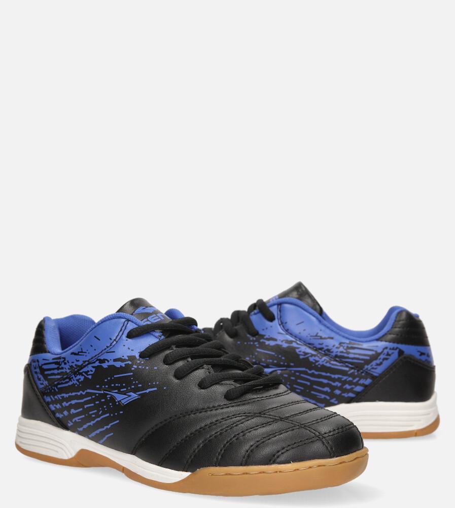 Czarne buty sportowe halówki sznurowane Casu B1901B-3 czarny