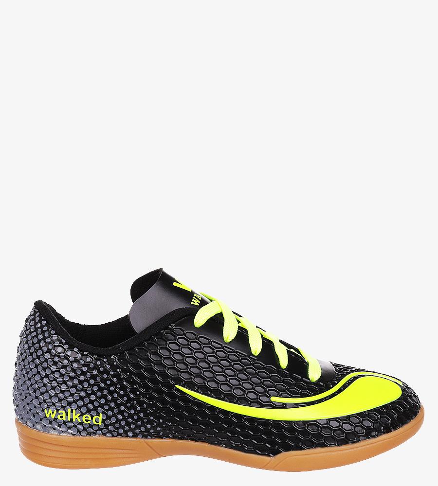 Czarne buty sportowe halówki sznurowane Casu D415-3 czarny