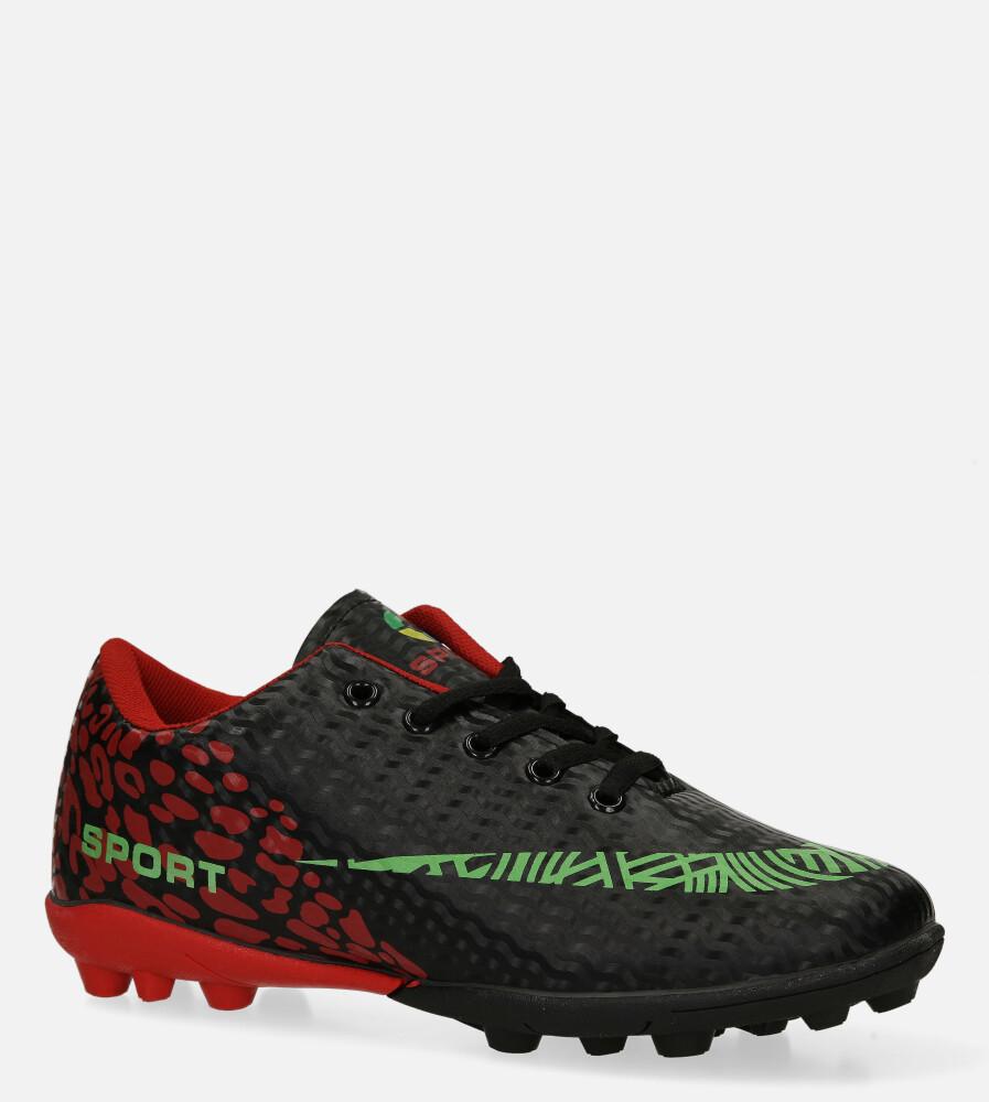 Czarne buty sportowe korki sznurowane Casu 20M1/M