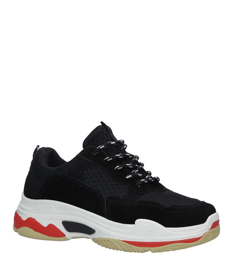 Czarne buty sportowe na koturnie Casu 7-K546A czarny