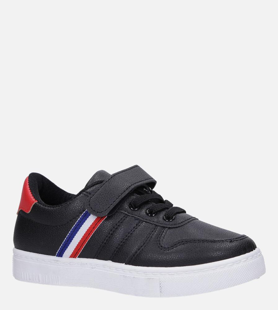 Czarne buty sportowe na rzep Casu 106 czarny
