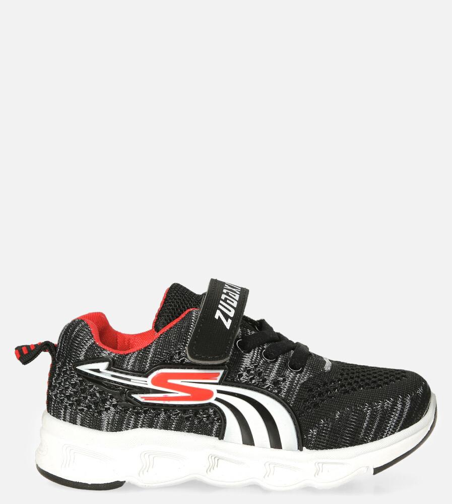 Czarne buty sportowe na rzep Casu 204/11M czarny