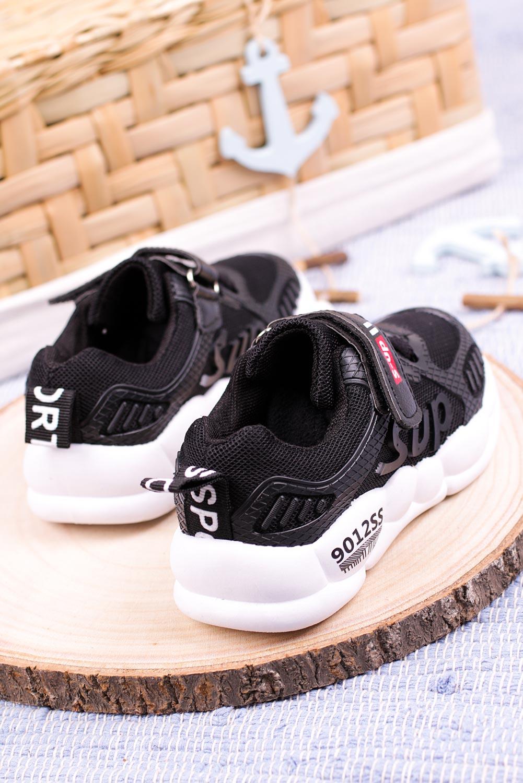 Czarne buty sportowe na rzep Casu 204/12M