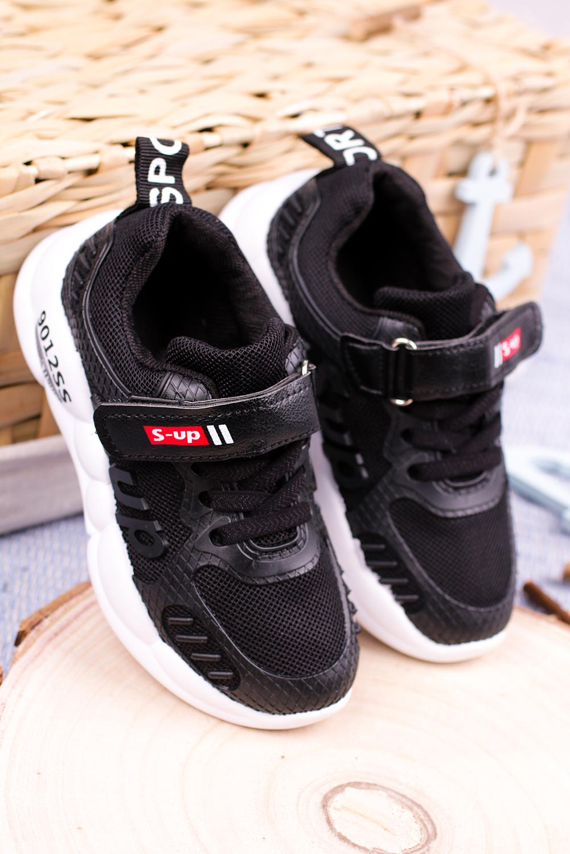 Czarne buty sportowe na rzep Casu 204/13M czarny