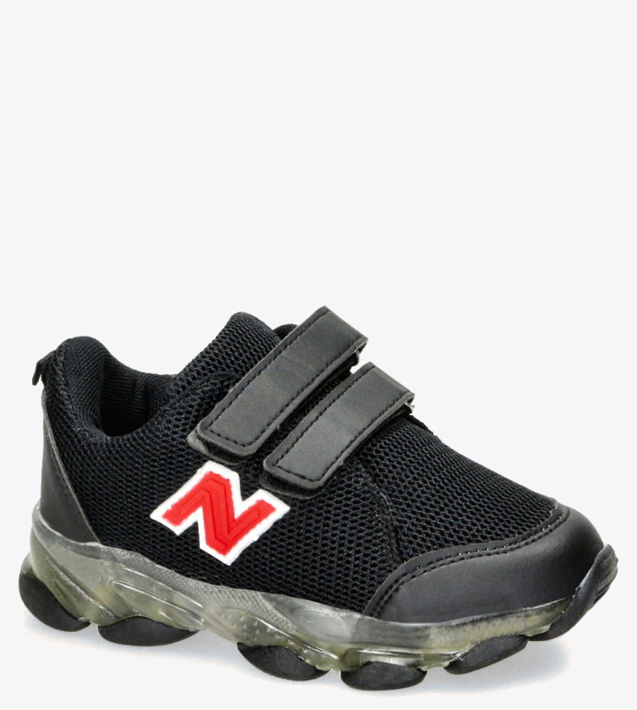 Czarne buty sportowe na rzep Casu 204/14M czarny