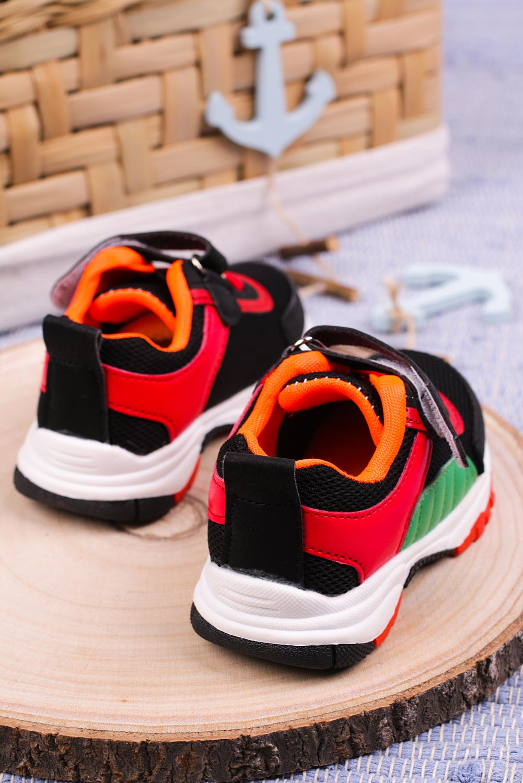 Czarne buty sportowe na rzep Casu 204/15M czarny