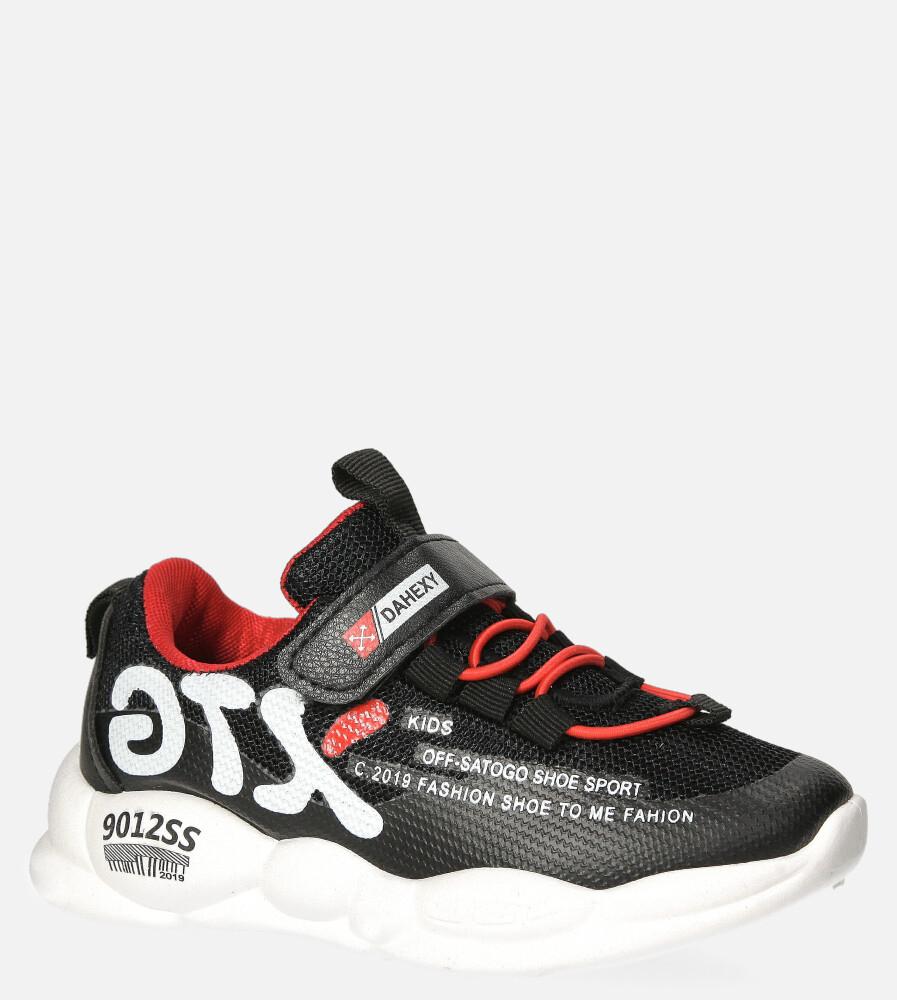 Czarne buty sportowe na rzep Casu 204/8M czarny