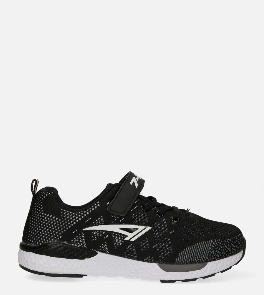 Czarne buty sportowe na rzep Casu 20P8/M/2 czarny