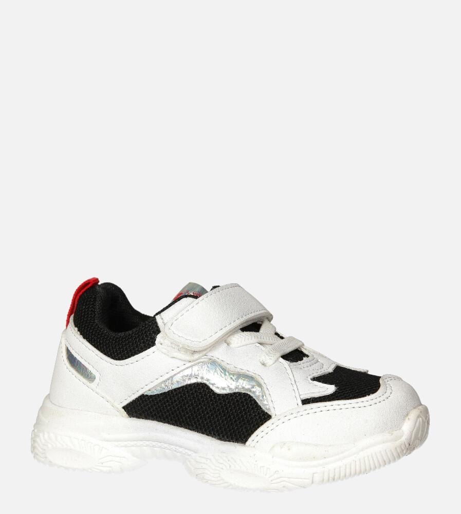 Czarne buty sportowe na rzep Casu 20T5/M czarny