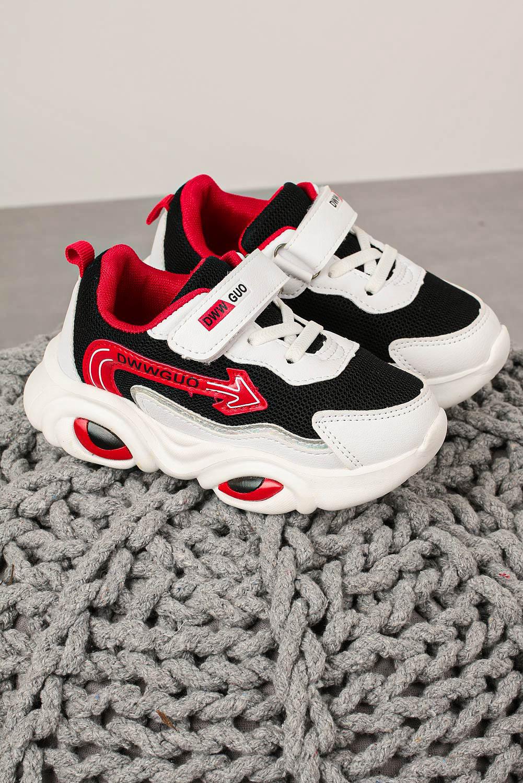 Czarne buty sportowe na rzep Casu 20T6/M czarny