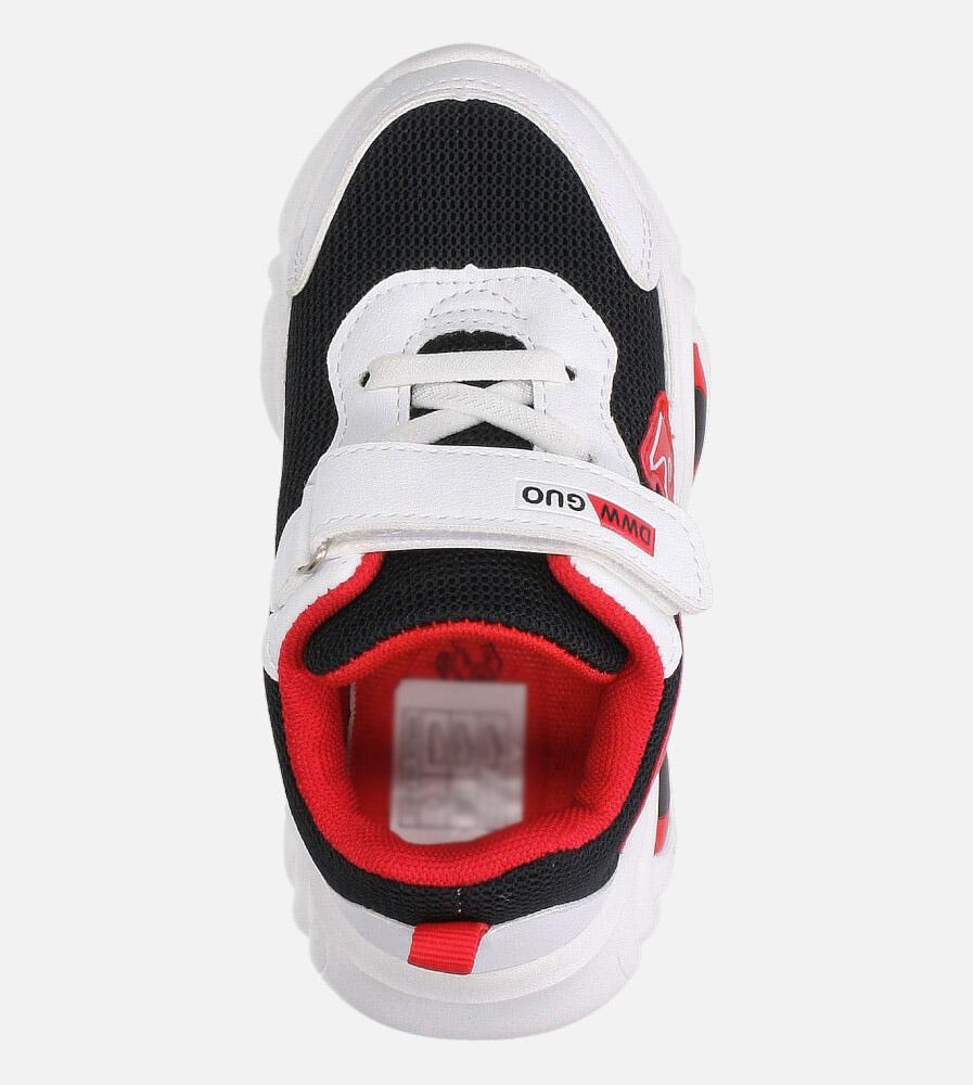 Czarne buty sportowe na rzep Casu 20T6/M  wysokosc_obcasa 3 cm