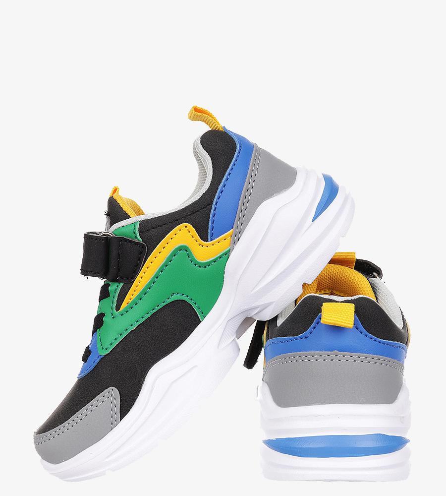 Czarne buty sportowe na rzep Casu 3XC8014 czarny