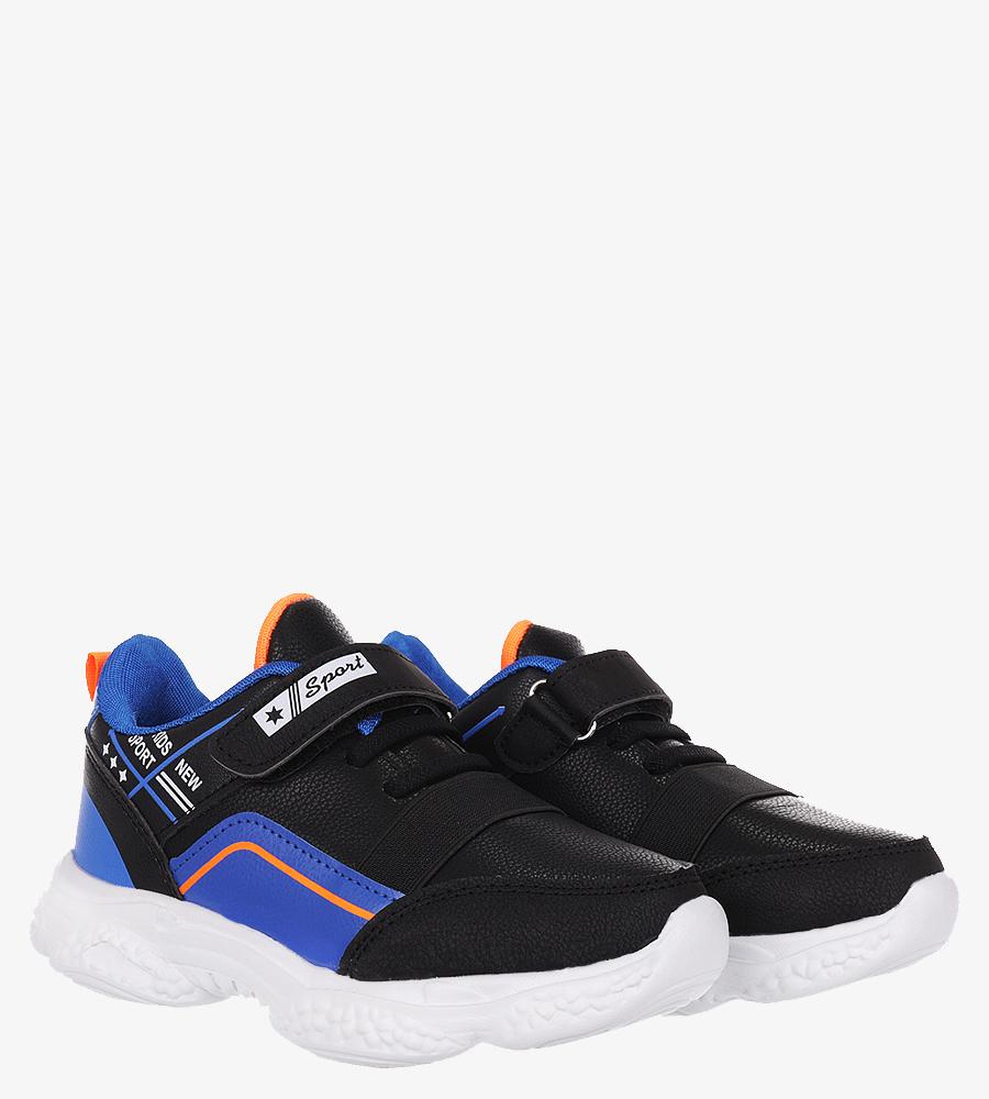 Czarne buty sportowe na rzep Casu 5XC8061-S czarny