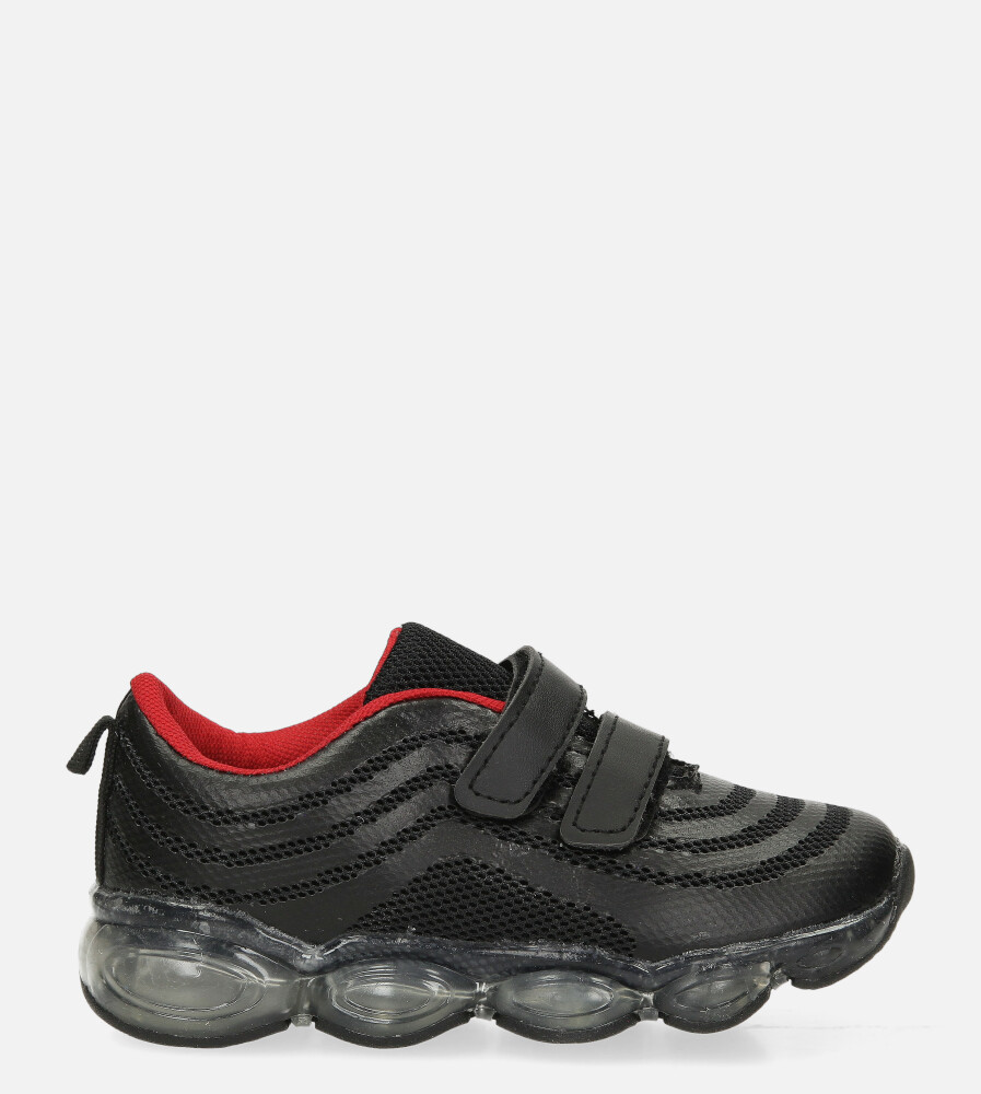 Czarne buty sportowe na rzep Casu 788-A czarny