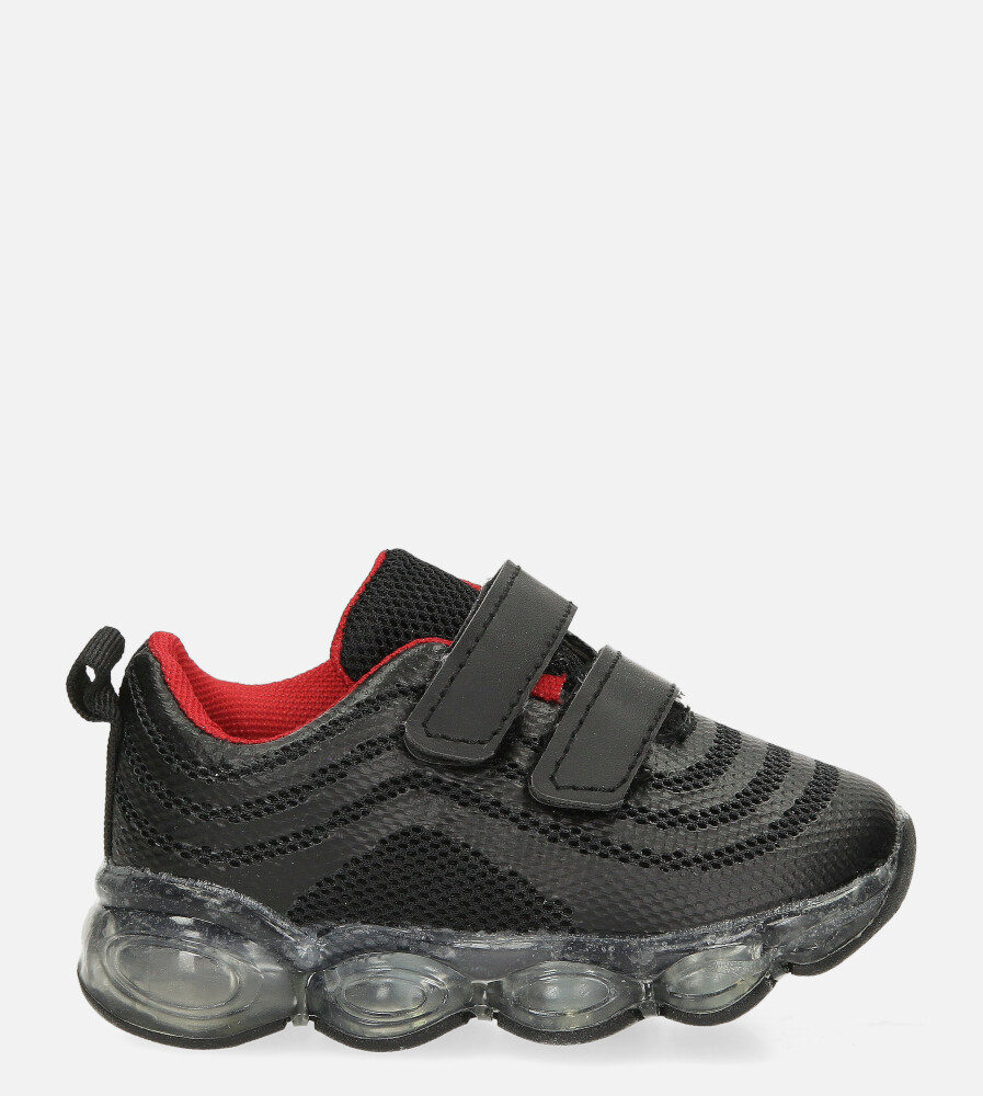 Czarne buty sportowe na rzep Casu 788-B