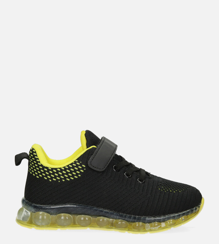 Czarne buty sportowe na rzep Casu 918A