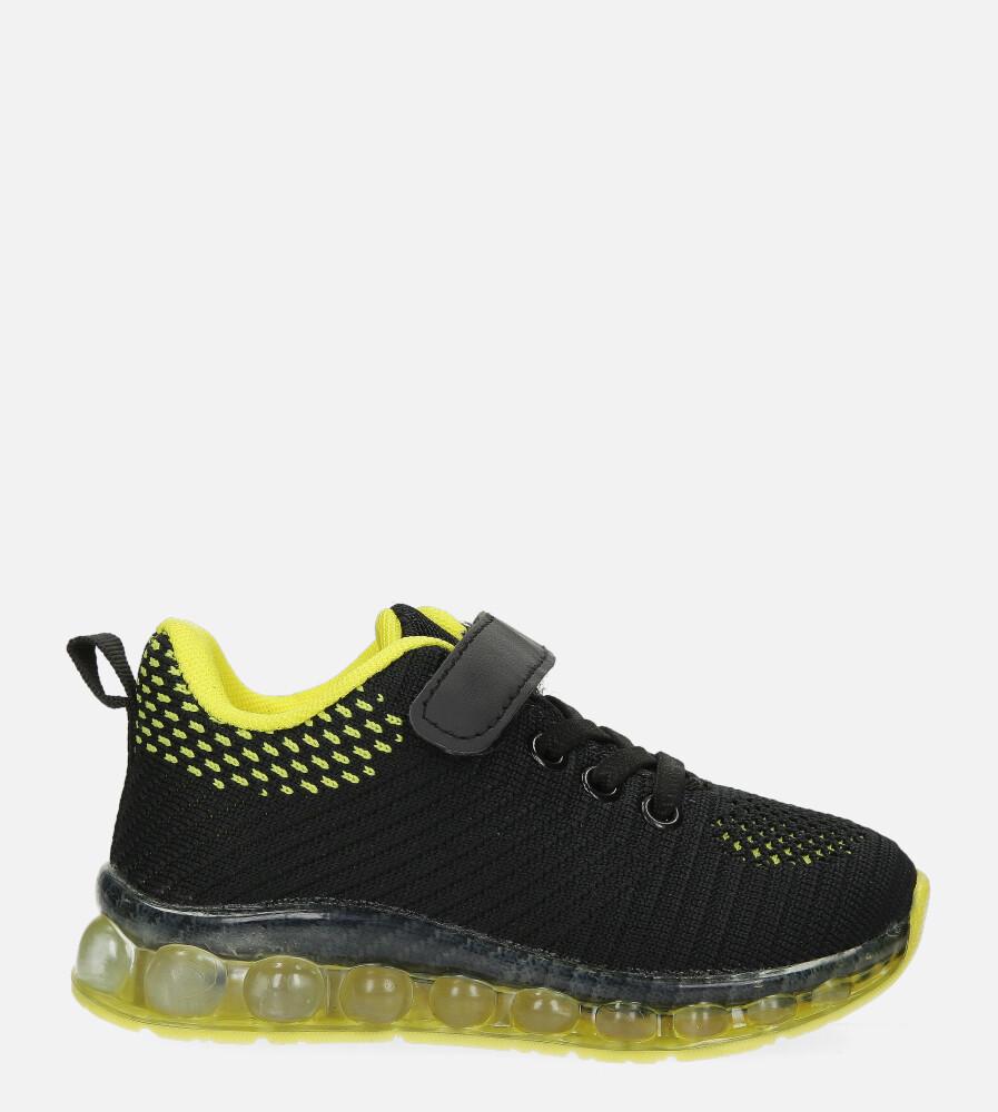 Czarne buty sportowe na rzep Casu 918B czarny