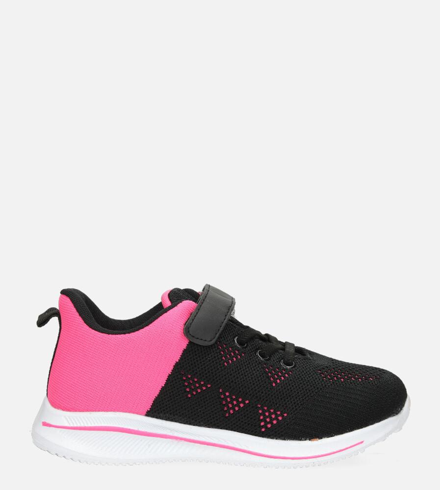 Czarne buty sportowe na rzep Casu 920A czarny