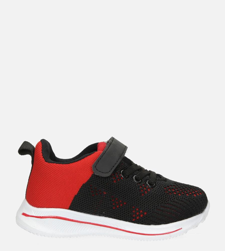 Czarne buty sportowe na rzep Casu 920B czarny