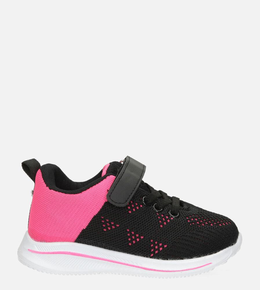 Czarne buty sportowe na rzep Casu 920B