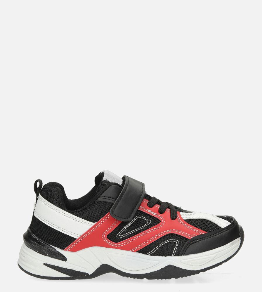 Czarne buty sportowe na rzep Casu CT3 czarny