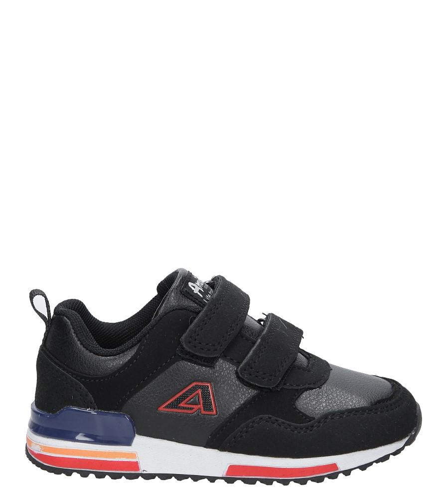 Czarne buty sportowe na rzepy American 8