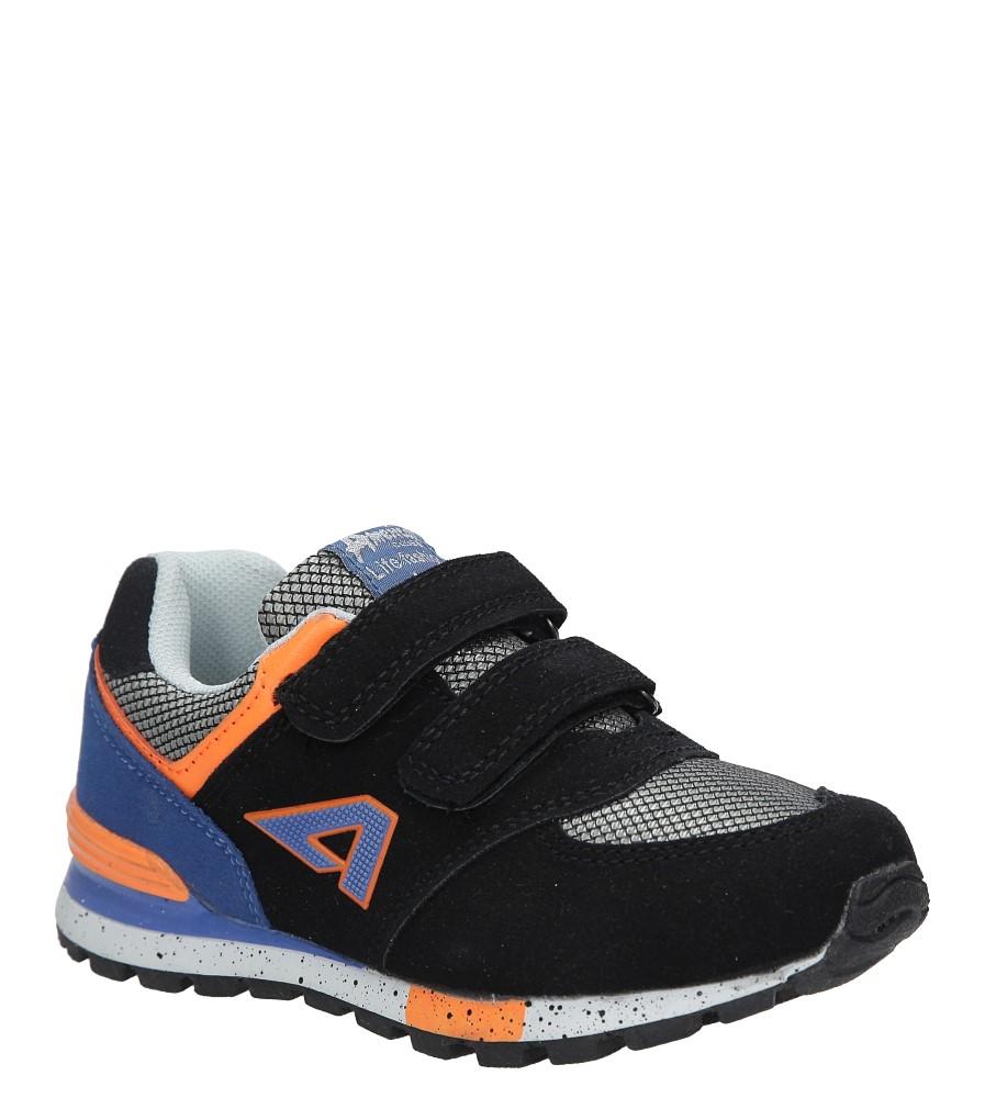 Czarne buty sportowe na rzepy American K15110G