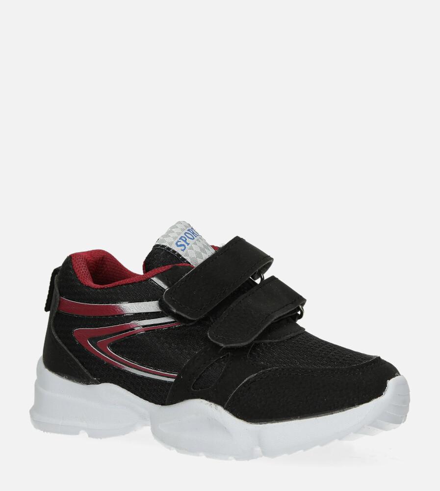 Czarne buty sportowe na rzepy Casu 002 czarny