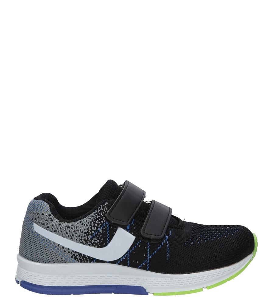 Czarne buty sportowe na rzepy Casu 5A-YF86177 czarny