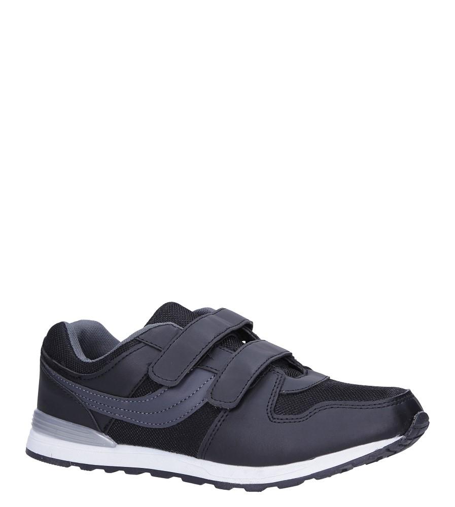 Czarne buty sportowe na rzepy Casu 608B-3