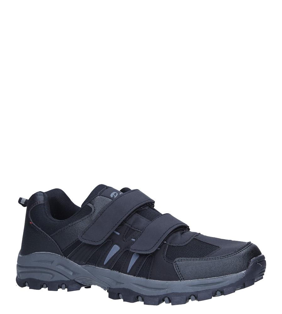 Czarne buty sportowe na rzepy Casu 78001