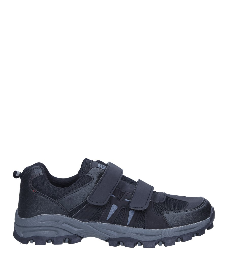 Czarne buty sportowe na rzepy Casu 78001 czarny