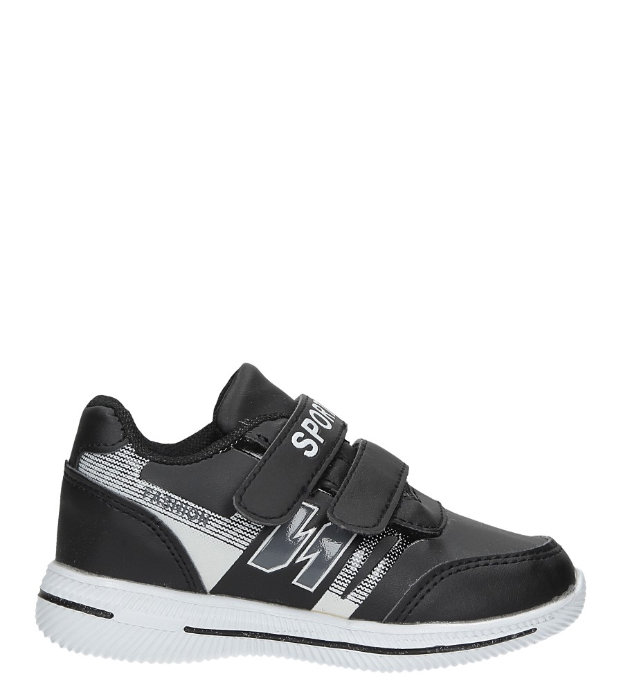 Czarne buty sportowe na rzepy Casu A2857-22