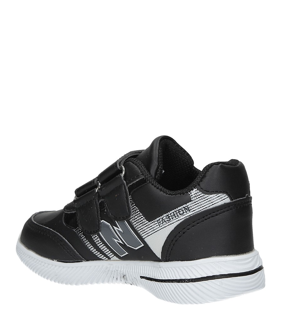 Czarne buty sportowe na rzepy Casu A2857-22 sezon Całoroczny