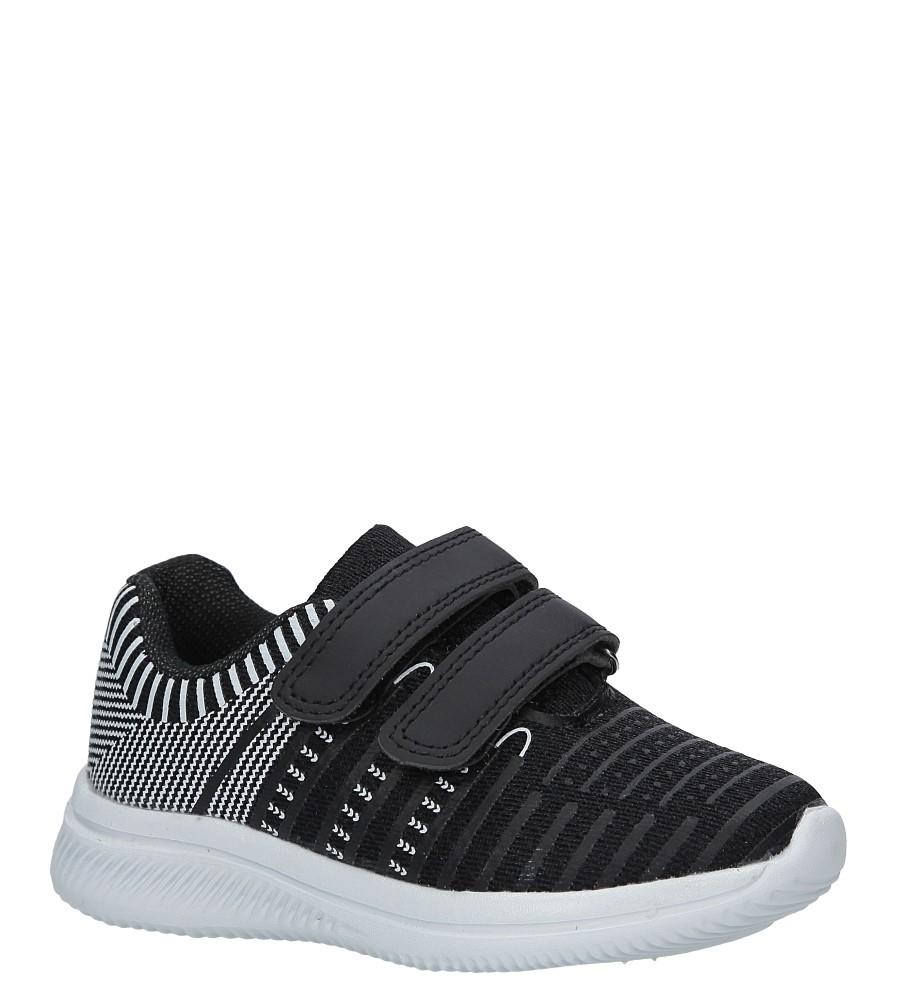 Czarne buty sportowe na rzepy Casu HY-L06 producent Casu