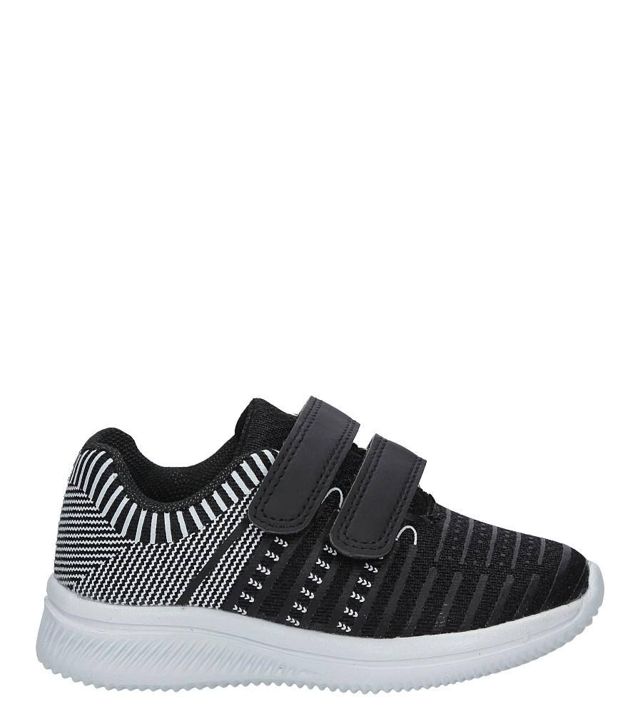 Czarne buty sportowe na rzepy Casu HY-L06