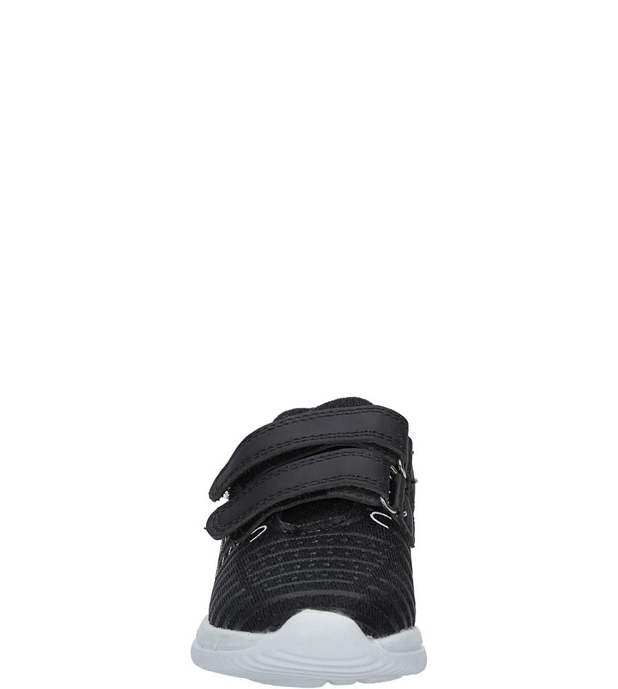 Czarne buty sportowe na rzepy Casu HY-L06 sezon Całoroczny