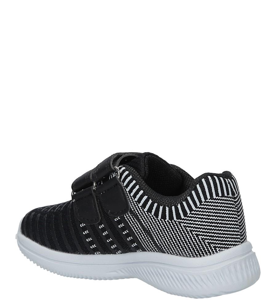 Czarne buty sportowe na rzepy Casu HY-L06 kolor czarny