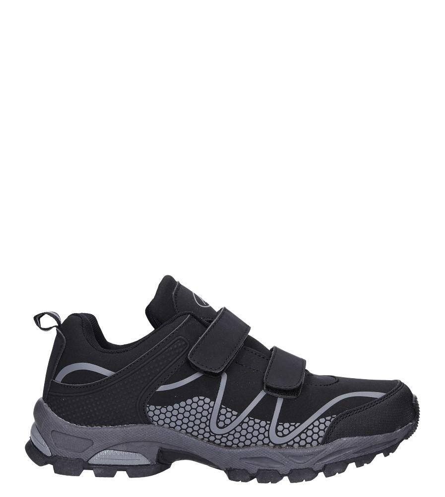 Czarne buty sportowe na rzepy softshell Casu A1529B-1